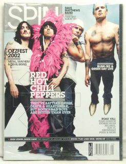 Spin Magazine Red Hot Chili Peppers Anthony Kiedis Flea John Frusciante Smith