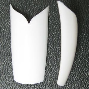 V Shape White Colors Natural French False Nail Art Tips Acrylic Gel Makeup