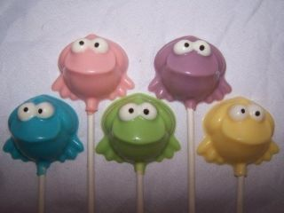 50 Baby Shower Frog Chocolate Lollipop Favors