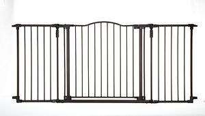North States Walk thru Pet and Baby Safety Secure Deluxe Décor Metal Gate Door