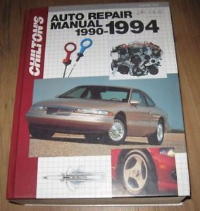 Chilton's Auto Repair Manual 1990 1994 Ford GM Chrysler Chevrolet Ford Dodge