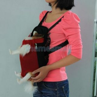 Pet Dog Puppy Red Front Style Carrier Backpack with Legs Out Design Size S