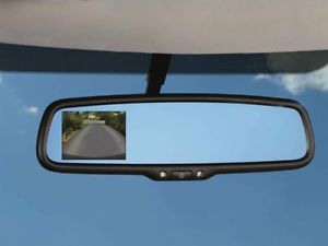Mopar Rear Backup Camera Kit with 3 5`` Rear View Bluetooth Mirror Monitor