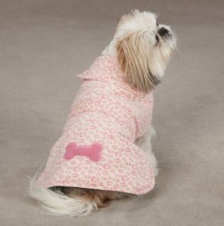 Dog Posh Leopard Fleece Coat Jacket XXS XXL Pet Barn Coats Jackets Pink