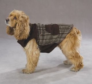 Zack Zoey Corduroy Ranch Dog Coat Jacket Brown XXS L