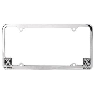 1994 2012 Dodge RAM Logo Black Big Horn Chrome License Plate Frame Frames