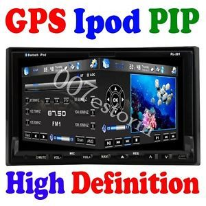 "Double DIN Auto GPS 7"" Car DVD CD  Player Radio Receiver BT USB SD iPod TV"