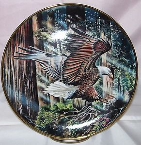 Freedom's Flight Ronald Van Ruyckevelt Franklin Mint Limited Edition Plate Eagle