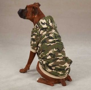 Zack Zoey Camo Fleece Dog Hoodie Sweatshirt Coat Jacket Camouflage Hooded Hood