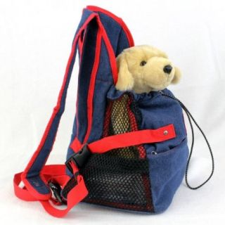 Dog Puppy Pet Front Style Pouch Carrier Backpack Denim