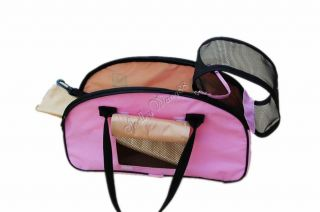 Pink Comfort Pet Dog Cat Carrier Soft Travel Tote Tent Airline Approved