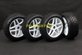 A0426 4X 1 8 Buggy Tires for HIMOTO RC Car 17mm Hub Wheel Rim Tires