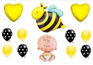 "What Will It ""Bee"" Baby Shower Balloons Decorations Supplies Gender Reveal Party"