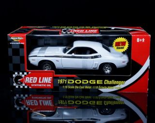 1971 Dodge Challenger Ertl American Muscle Red Line Oil Diecast 1 18 Scale White