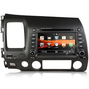 Car DVD GPS Navi Headunit Autoradio for Honda Civic Free Camera TV Antenna