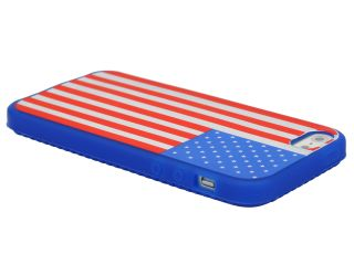 Silicone USA American Flag Pattern Soft Skin Case Cover for Apple iPhone 5