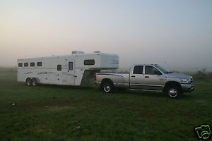 American trailer fifth wheel 4 horse with living gooseneck Horse trailer