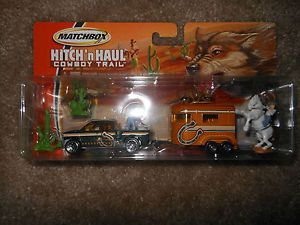 Matchbox Hitch'N'Haul Cowboy Trail Truck and Horse Trailer Diecast Model