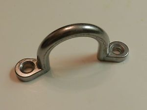 "Trailer 2"" Solid Brushed Aluminum Rope Tie Horse Cargo RV Boat D Ring Loop"