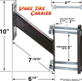 Spare Tire Mounting Bracket Boat Utilty Snowmobile Trailer Wheel Mount STC 01