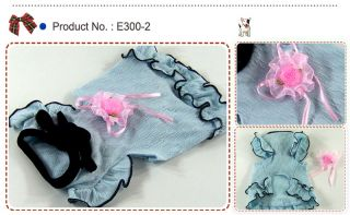 Dog Cat Clothes Lace Skirts with Flower Brooch Pet Dresses E300