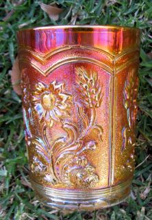 Fieldflower Imperial Marigold Glass Tumbler 1920s
