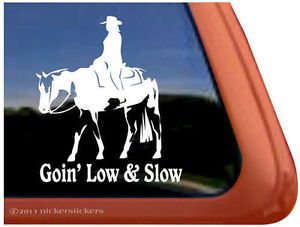 Goin' Low Slow Western Pleasure American Paint Horse Trailer Decal Sticker