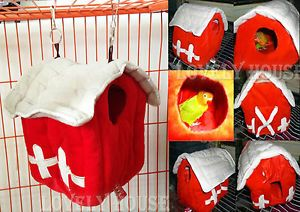 Hammock for Small Parrot Rat Hamster Mice Hanging Bed Toy House Hut Cave Cage