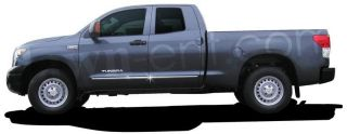 2007 2012 Toyota Tundra Double Cab ABS LCM Chrome Body Side Moldings