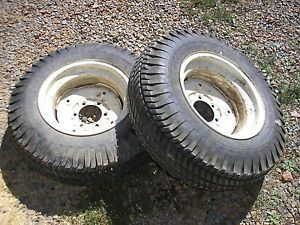 Case Ingersoll Tractor Lawn Mower 446 Rear Turf Tires Rims Goodyear 8 16 Loaded