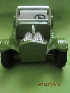 Vintage 60s Nylint Green Hot Rod Rat Rod Roadster Car Pressed Steel Toy Truck