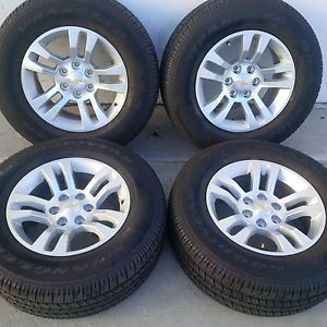 "18"" 2014 Chevrolet Silverado Tahoe Factory Wheels Goodyear Tires Z71 New"