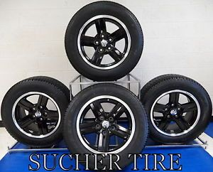 "Dodge Dakota 18"" Black Factory Wheels Rims and Goodyear Tires Set of 4"