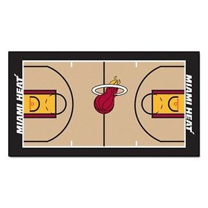 "Miami Heat Basketball Court Runner Area Rug Floor Mat 24"" x 44"""