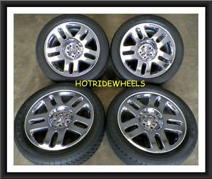 "20"" Dodge Nitro Chrome Clad Wheels with Goodyear Tires 245 50 20 946B"