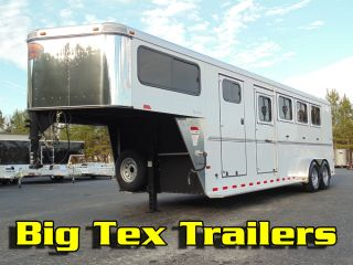 Used 2012 7x31 All Aluminum 4 Horse Slant Sundowner Horse Trailer