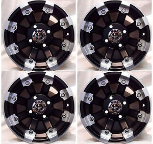 "4 12"" Rims Wheels for 2005 2013 Suzuki King Quad 750 IE w IRS 393 MBML Aluminum"