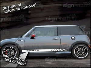 2001 and Up Mini Cooper Custom Vinyl Decal Graphics Rocker Side Stripes 5