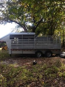 Cm 16' Steel Half Top Stock Horse Trailer