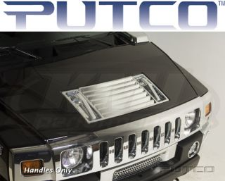Putco 401047 2003 2009 Hummer H2 SUT H2 Chrome Hood Deck Vents Handles Only