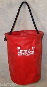 Tough 1 Red Collapsible Water Bucket Horse Tack Equine Trailer Camping Supply