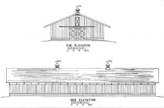 Barn Plans Blueprints Horse Cattle Trailer Corral Farm
