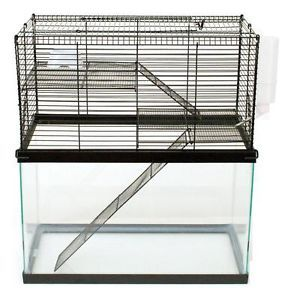 Chew Proof 3 Level Cage for Your 10 Gallon Tank Hamsters Mice Gerbils Mouse