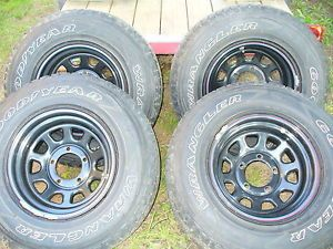 Ford Truck Wheels 15'' Rims and Tires 5 Lug F150 Goodyear Offroad 4x4
