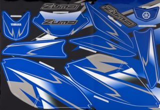 Yamaha Zuma 50F Scooter 2012 Custom Graphic Kits Blue