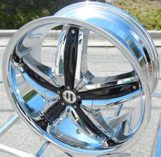 "22"" Helo 844 Chrome Wheels Rims 5x115 25mm Magnum Charger 300C"