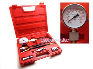 "Automotive Compression Tester 2 Adapters 2 1 2"" Dia Gauge Gas Engine Tester Kit"