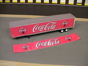 Coke A Cola Labels for DCP 53 Foot Dry Van Semi Trailer 1 64 Diecast Promotions