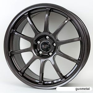 18 Rota G Force Gunmetal Rims Wheels evo8 EVO9 EVO 9 x Evolution