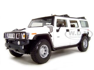 Hummer H2 White 1 18 Scale Diecast Model